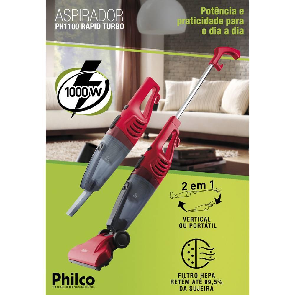 d93d8a7b1 Aspirador de Pó Vertical Rapid Turbo PH1100 1000W - Philco
