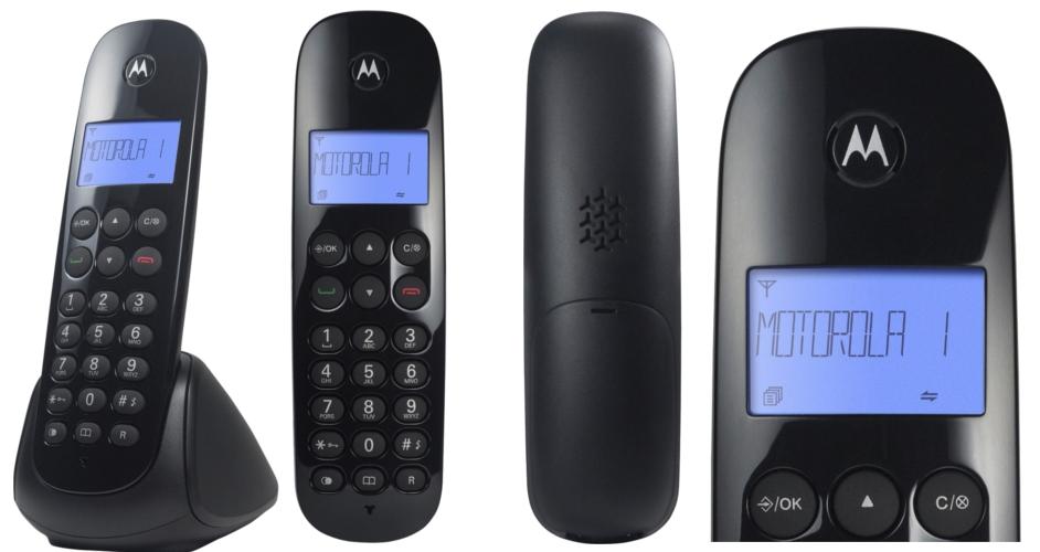 e59fd015c Identificador de Chamada Preto O Telefone Digital sem fio Motorola MOTO700 é  pratico de usar. Possui a Tecnologia Multi Ramal Digital (DECT 6.0)  expansível ...